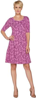 Isaac Mizrahi Live! Scroll Knit Jacquard Fit & Flare Dress