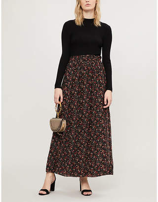 Claudie Pierlot Mariveau knit and crepe dress