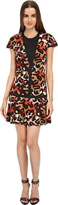 Just Cavalli Women's Jersey Charlotte Cheetah Print Cap Sleeve Dress 44 (US 6)