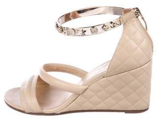 Chanel Lucky Charms Wedge Sandals