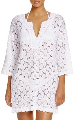 J. Valdi Dot Lace Tunic Swim Cover-Up $70 thestylecure.com
