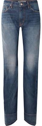 TRE Beth Distressed High-rise Straight-leg Jeans