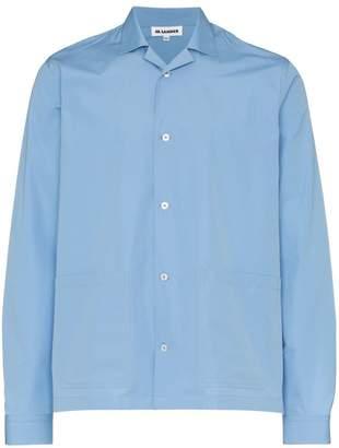 Jil Sander bottom pocket detail cotton shirt