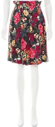 Sonia Rykiel Floral Print Knee-Length Shorts
