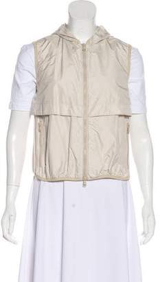 Brunello Cucinelli Hooded Zip-Up Vest
