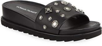 Donald J Pliner Cailo Embellished Calf Leather Slides