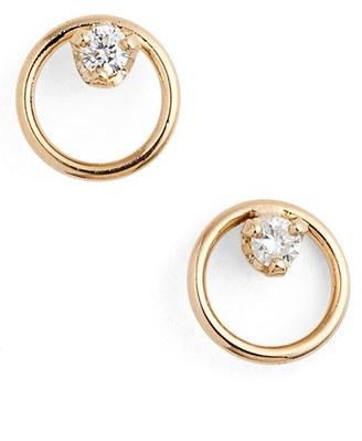 Women's Zoe Chicco Diamond Circle Stud Earrings $275 thestylecure.com