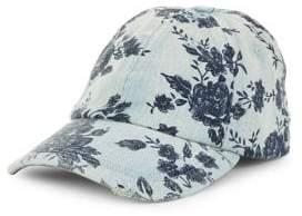 BCBGeneration Floral Denim Baseball Cap