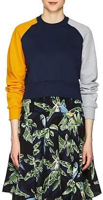 Cédric Charlier Women's Colorblocked Cotton Fleece Sweatshirt