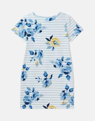 Joules 205237 Printed Short Sleeve Jersey Dress