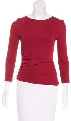 Versace Zip-Accented Stretch Knit Top