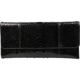 Carlos Falchi Black Python Clutch bags