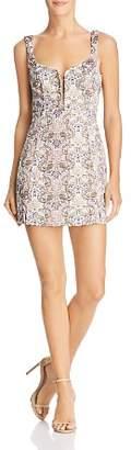For Love & Lemons Brocade Mini Dress