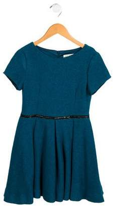 Helena Girls' Tweed A-Line Dress