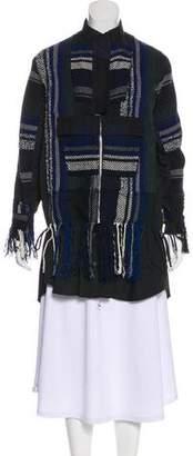 Sacai Knit-Accented Zip-Up Jacket