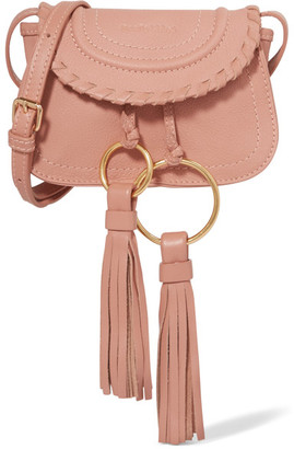 See by Chloé - Polly Mini Tasseled Textured-leather Shoulder Bag - Pink $295 thestylecure.com