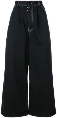 MM6 MAISON MARGIELA cropped flared trousers