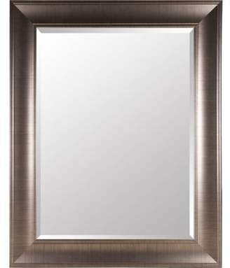 Gallery Solutions Large 39X49 Beveled Wall Mirror with Brushed Bronze Frame
