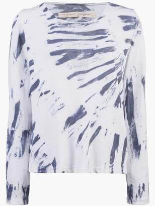 Raquel Allegra shredded front tie dye top