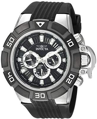 Invicta Men's 'I-Force' Quartz Stainless Steel and Silicone Casual Watch