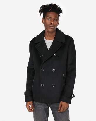 Express Wool-Blend Double Breasted Peacoat