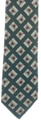 Chanel Silk Geometric Tie