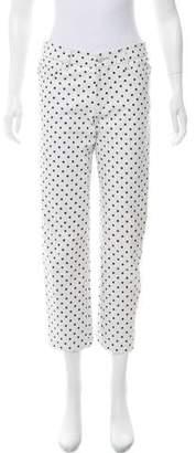 Ralph Lauren Polka Dot Mid-Rise Pants