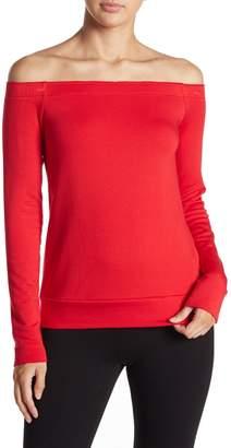 Bailey 44 Fleece Off-the-Shoulder Sweater