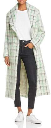 Paper London Rainbow Textured Grid Print Coat