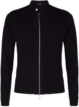 Giorgio Armani Wool Zip-Up Sweater