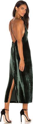 J Brand Blessing Velvet Midi Dress