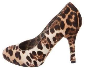 Dolce & Gabbana Ponyhair Round-Toe Pumps