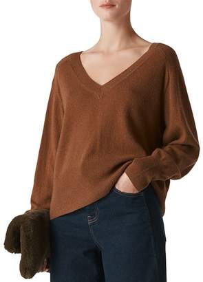Whistles Oversize Cashmere & Wool Sweater