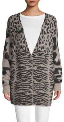 Wildfox Couture Printed Long-Sleeve Cardigan