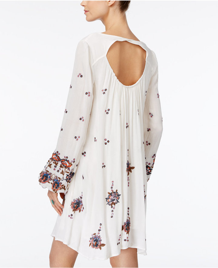 Free People Oxford Embroidered Shift Dress 4