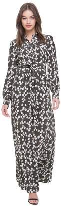 Abbey Floral Silk Maxi Dress