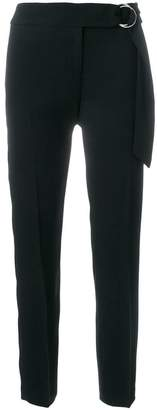 MICHAEL Michael Kors belted cropped tailored trousers
