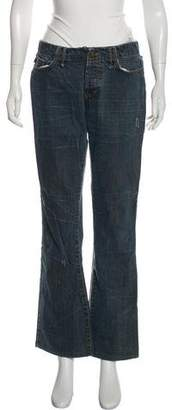 Just Cavalli Mid-Rise Wide-Leg Jeans