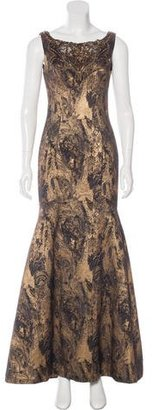 Theia Metallic Brocade Gown $330 thestylecure.com