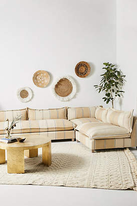 Anthropologie Peruvian Stripe Tassa Three-Piece L-Shaped Sectional