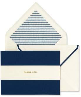 Navy Stripe Thank You Card Set