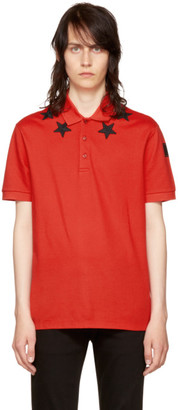Givenchy Red Stars Polo $550 thestylecure.com