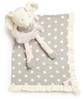 Elegant Baby Baby's Two-Piece Knittie Bittie Blanket& Ballet Bunny Set