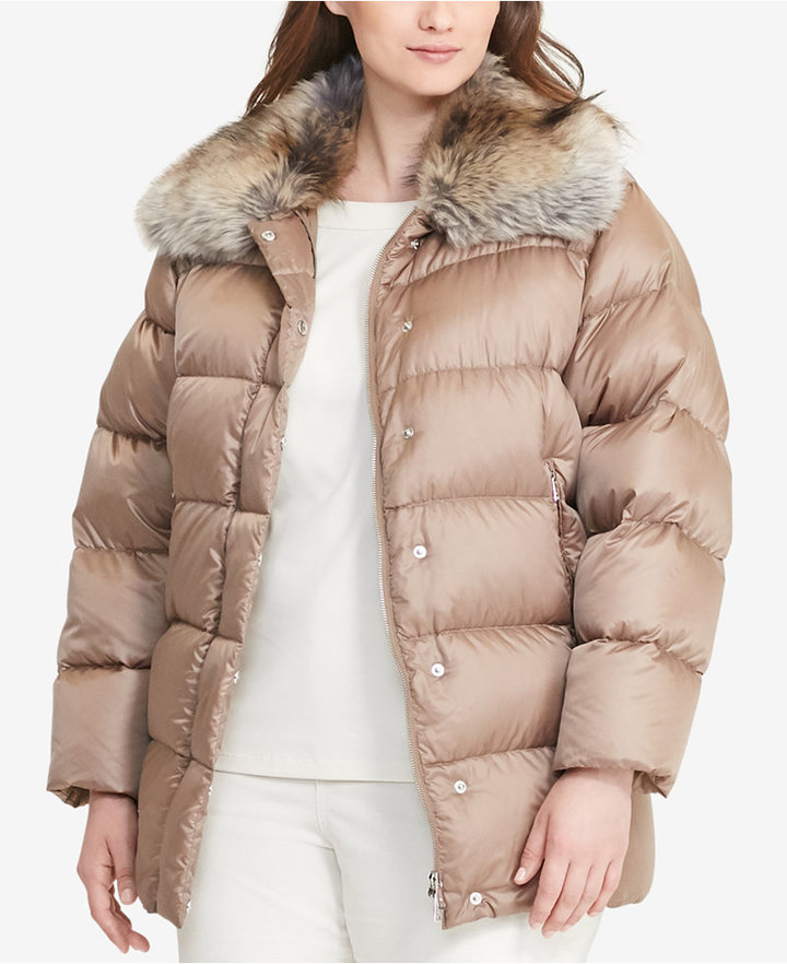Lauren Ralph LaurenLauren Ralph Lauren Plus Size Quilted Down Coat