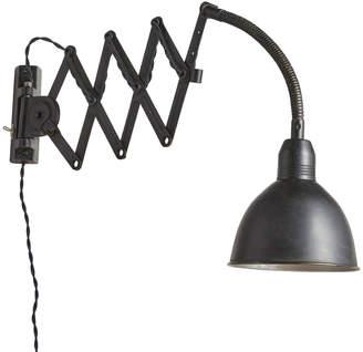 Rejuvenation Black Enameled French Atelier Scissor Lamp