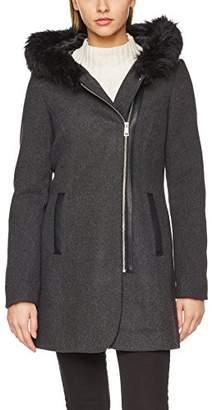 Vero Moda Women's Vmmacy 3/4 Wool Jacket Coat, (Medium Grey Melange), (Size: Small)