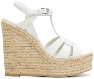 Saint Laurent Espadrille T-Strap Wedge sandals