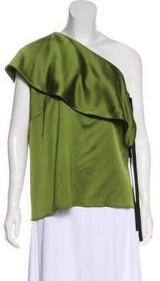 Hellessy Silk One-Shoulder Blouse