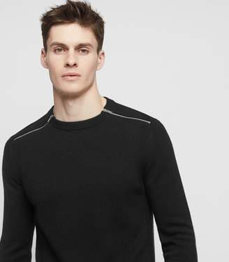 Reiss FRASER ZIP-DETAIL JUMPER Black