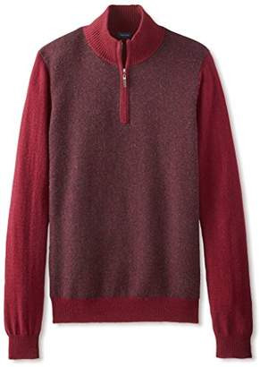 Thirty Five Kent Men's Cashmere Herringbone Quarter Zip